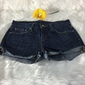 Boyfriend Denim Shorts Levi's Frayed Levi's 513
